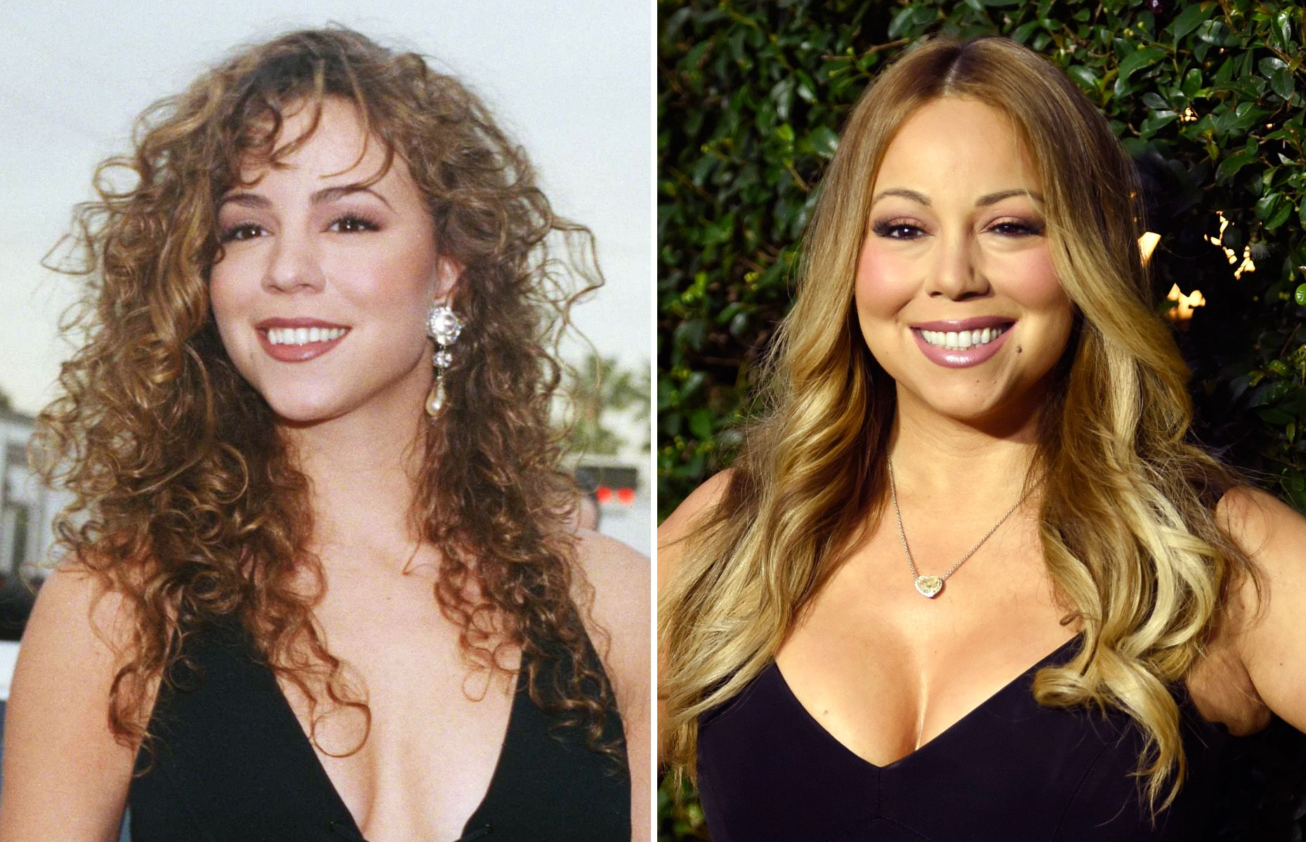 Music stars of the '90s Then and now Mariah carey