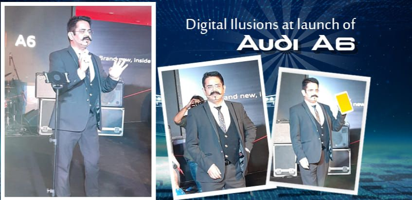 Digital Illusion at the launch of Audi A6 Sumit Kharbanda's mesmerized acts were seen with his Di