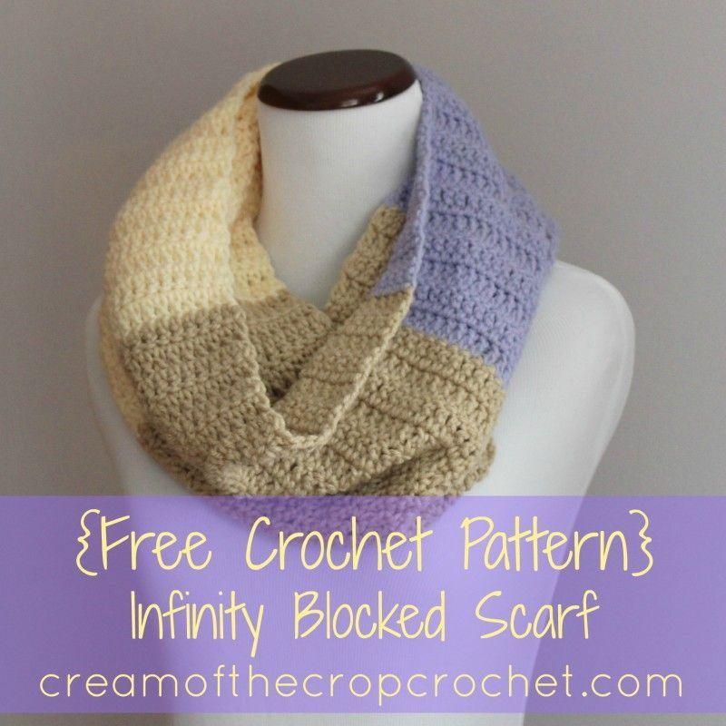 Crean of the Crop Crochet~Infinity Blocked Scarf {free #crochet ...