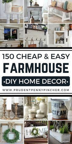Save money with these farmhouse style home decor ideas! From furniture to home accents and…
