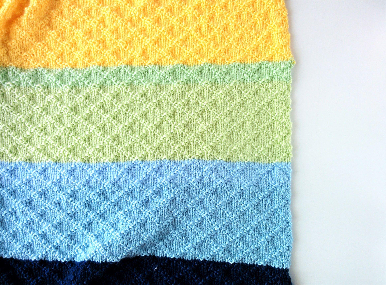 Dina Blanket: Super Easy Knit Baby Blanket Pattern   Easy knit baby ...