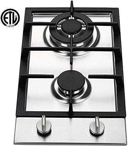 Amazon Com Ramblewood Gc2 37n Natural Gas High Efficiency 2 Burner Gas Cooktop Appliances Gas Cooktop Cooktop Range Cooker