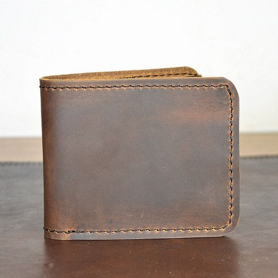 Groomsmen gift Handmade wallet Cards wallet Gift for men Brown wallet mens Leather wallet bifold Vintage mens wallet