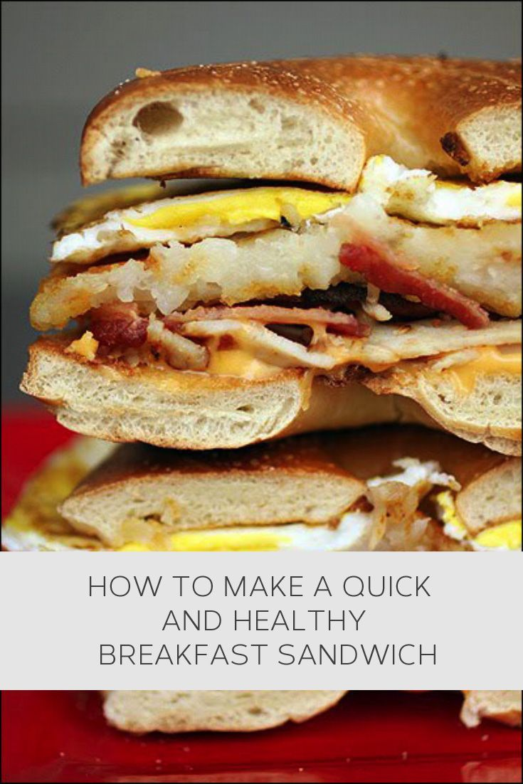 How to make a quick and healthy breakfast sandwich #howto, #helpful, #useful, #tips, #advice