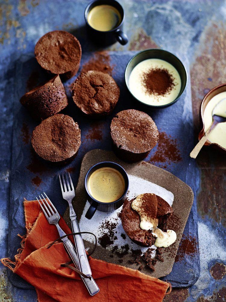 Chocolate Hazelnut Puddings With Crème Anglaise Creme