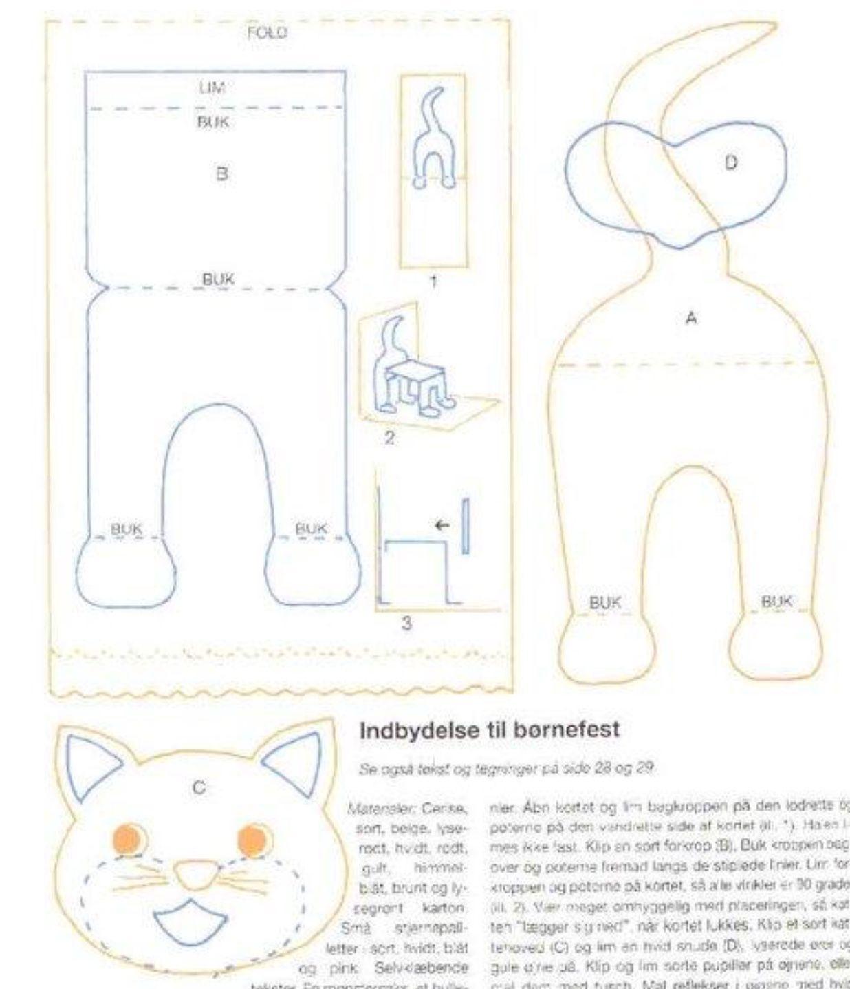 Pop Up Cat Pattern Dog Template Pop Up Card Templates Cards