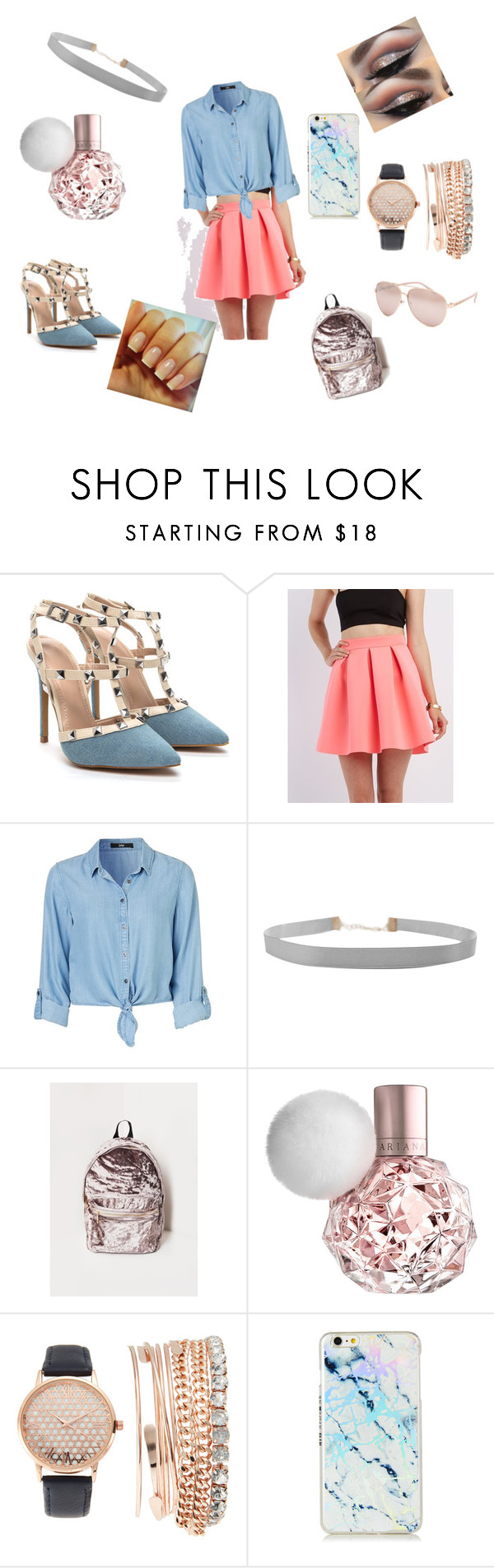 """Cotton candy 💝"" by azaria1613 ❤ liked on Polyvore featuring Charlotte Russe, Humble Chic, Missguided, Jessica Carlyle and Full Tilt"