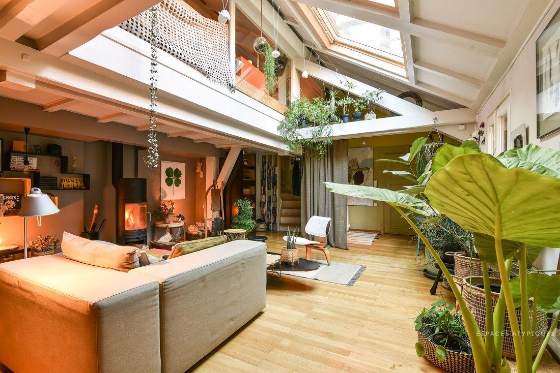 A Cozy Plant-Filled Attic Apartment in Strasbourg | Attic ...
