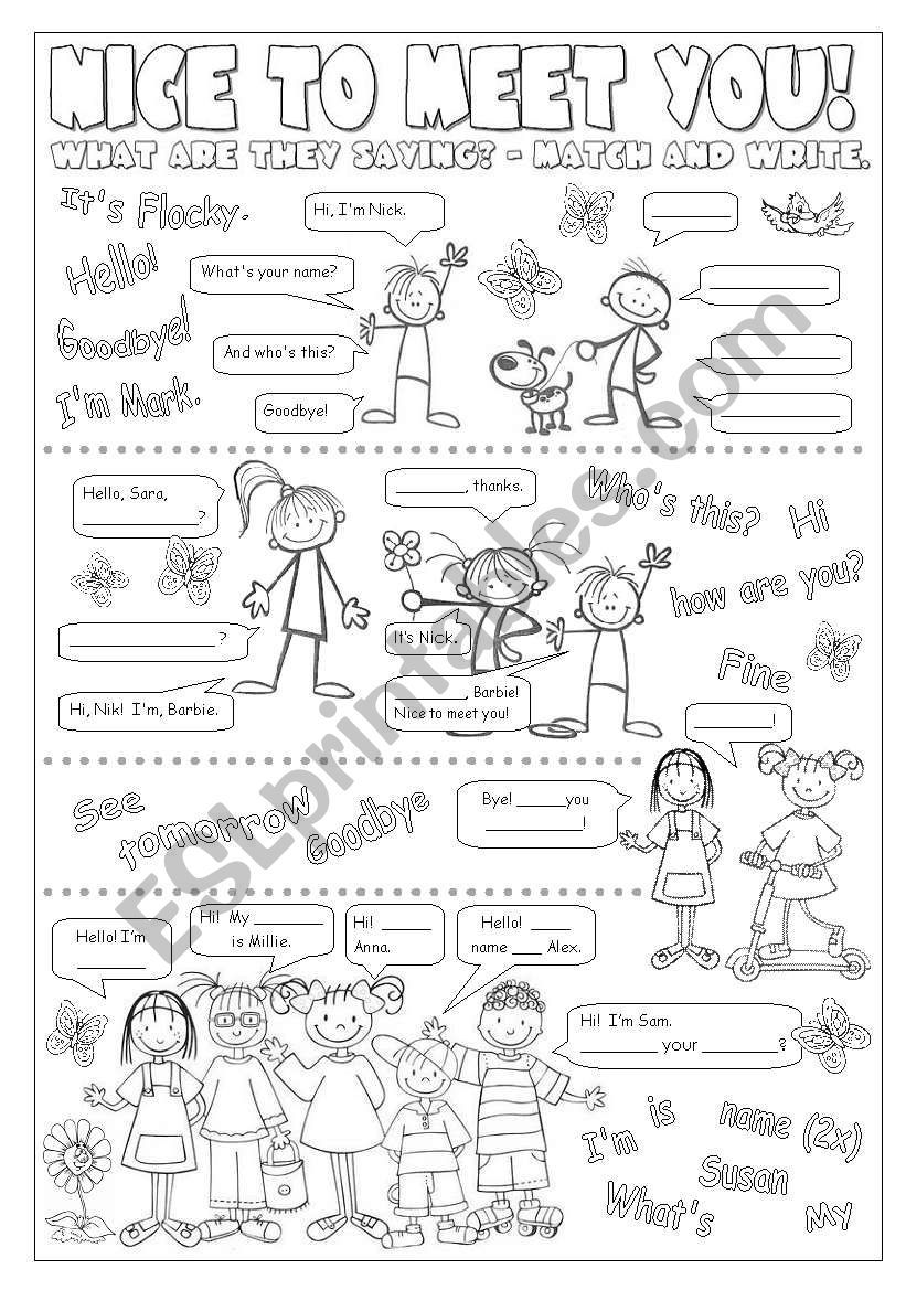 - Worksheets For Beginners Going With Happy Street 1 / Unit 1