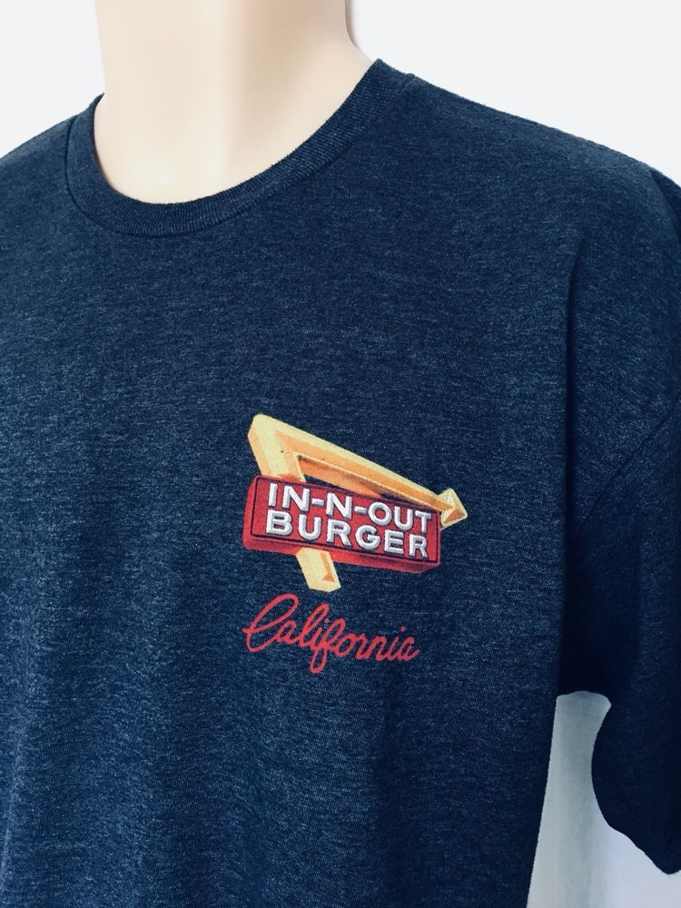 ffe7fe10668 IN-N-OUT BURGER California Graphic Tee Short Sleeve Size L Charcoal Gray