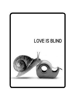 Love is blind  Hahahaha