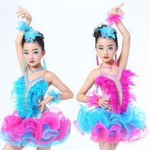 76432836 Dzieci professional latin dance dress for girls sukienki dzieci ...