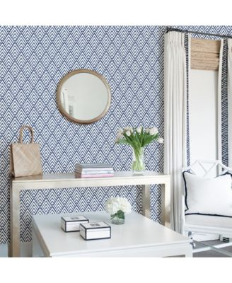 Arrowhead Deep Blue Peel And Stick Wallpaper Blue Bathroom Wallpaper Trends Peel And Stick Wallpaper Nuwallpaper