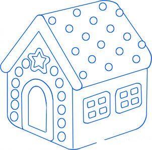 dessiner une maison en pain d epice etape 4 - Apprendre A Dessiner Une Maison