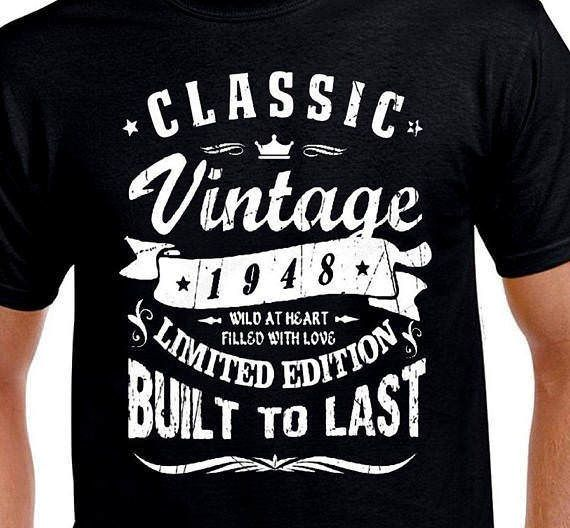 4da8201d Classic vintage 1948 limited edition wild built to last 70th birthday t  shirt #handmade #GraphicTee