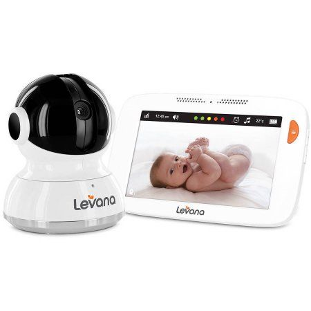 Levana Willow 5 inch Touchscreen Pan/Tilt/Zoom Video Baby Monitor, White