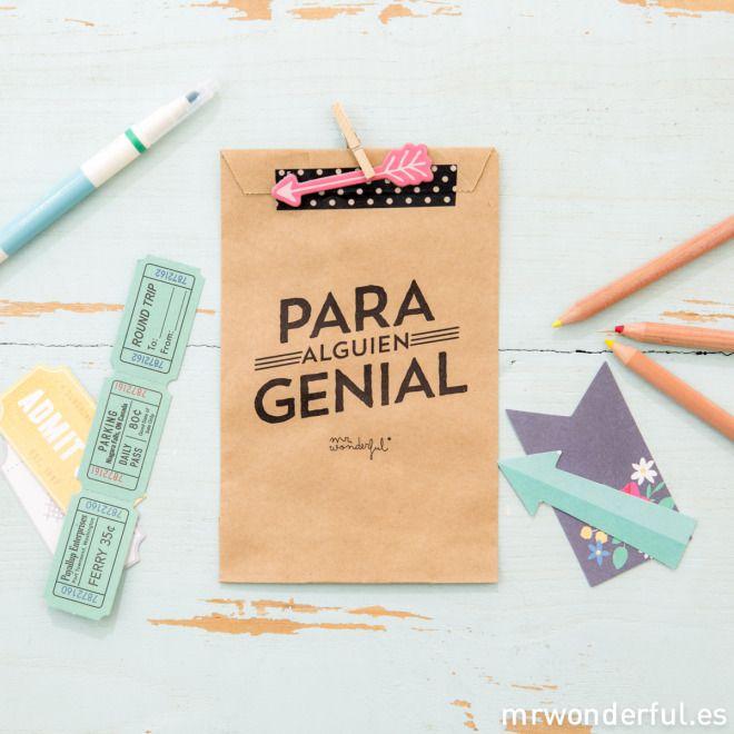 Mrwonderful kraft19 bolsa kraft regalo p 5 bolsas con - Regalos envueltos originales ...