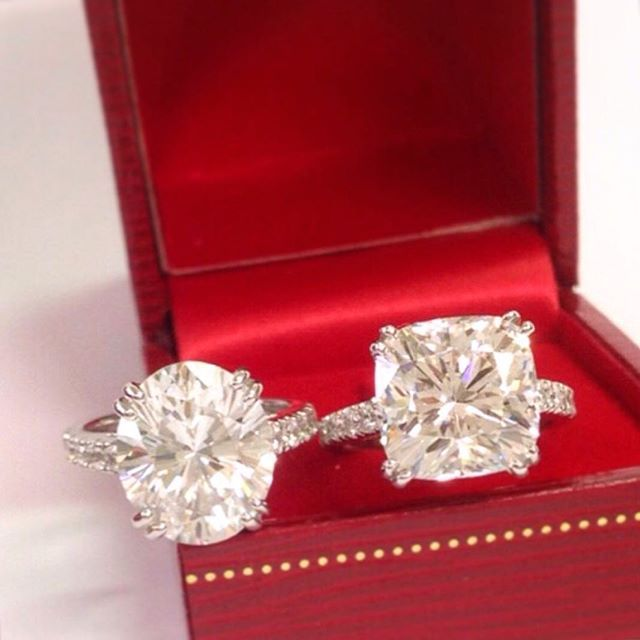 Cushion Cut Vs Round Cut Halo Cushion Cut Engagement Rings