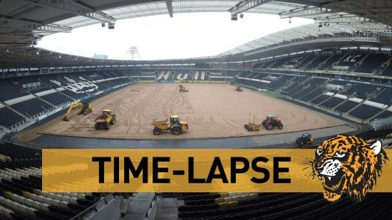 Time Lapse Video Of Pitch Renovation Work Being Done At The KC Stadium