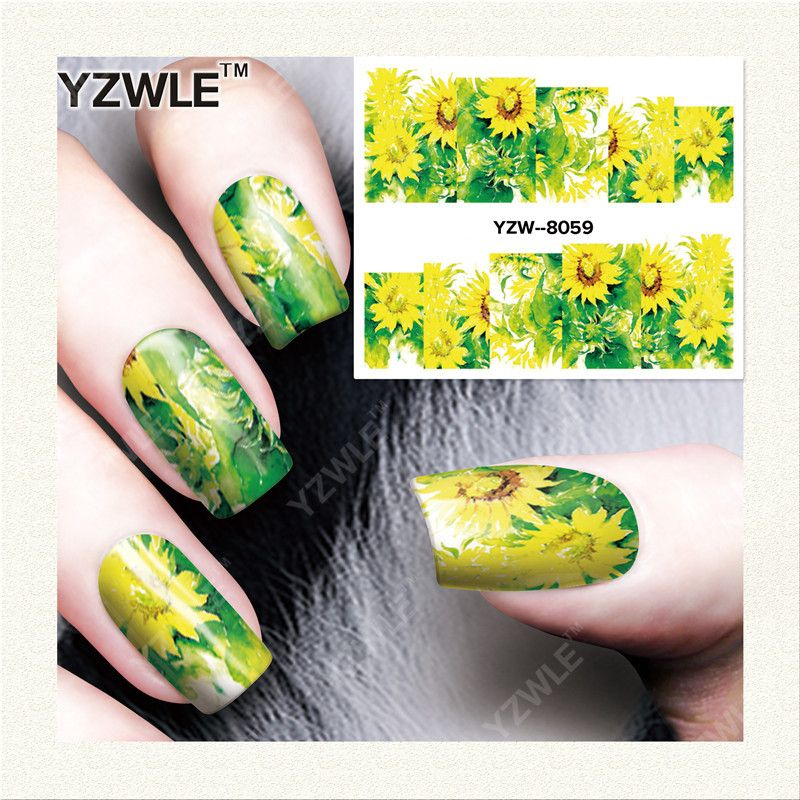 YZWLE 1 Vel DIY Decals Nagels Art Water Transfer Printen Stickers ...