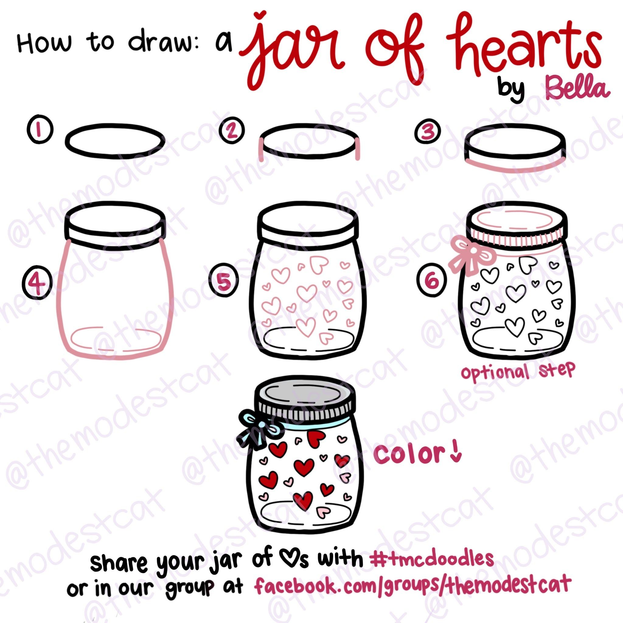 How To Draw A Mason Jar Step By Easy