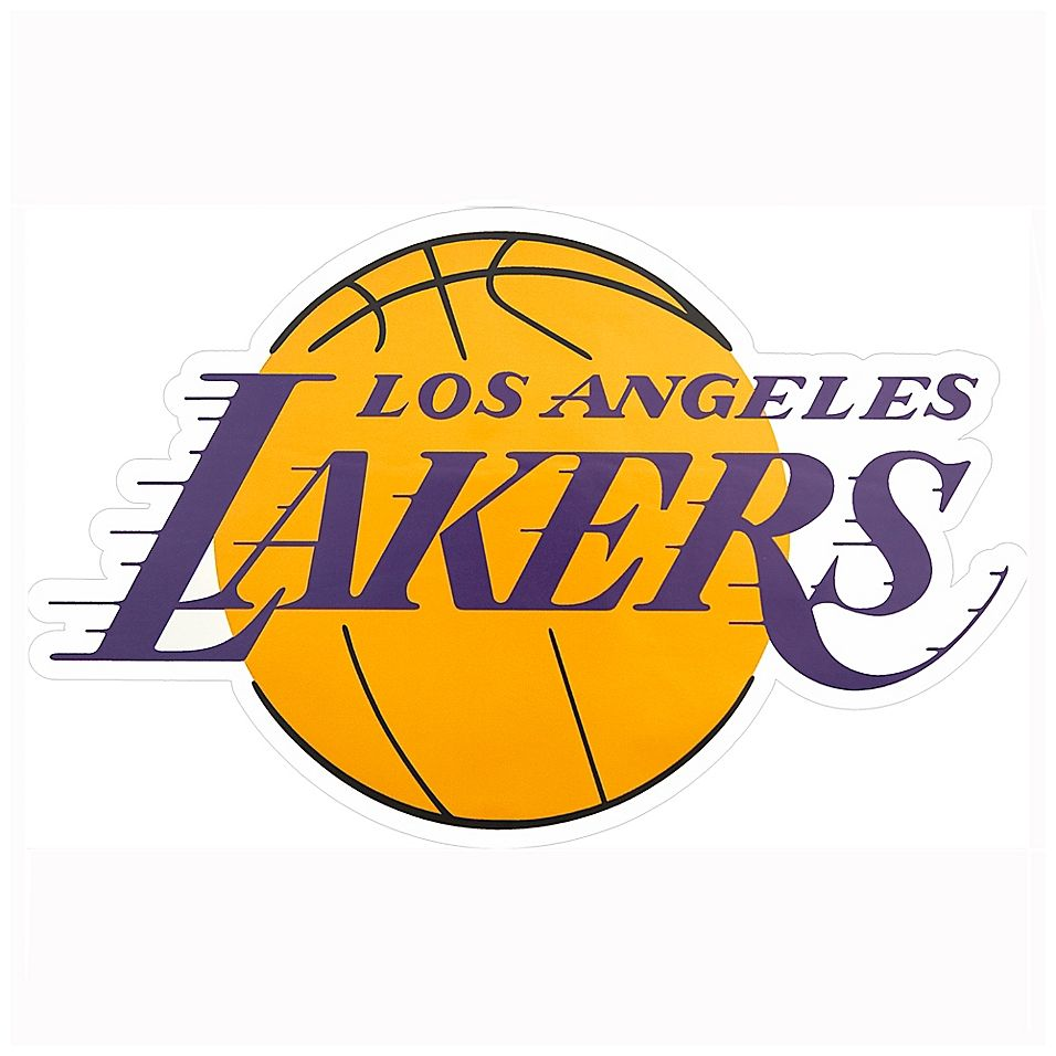 Nba Los Angeles Lakers Mini Primary Logo Graphic Decal Bed Bath Beyond In 2020 Los Angeles Lakers Logo Lakers Logo Los Angeles Lakers