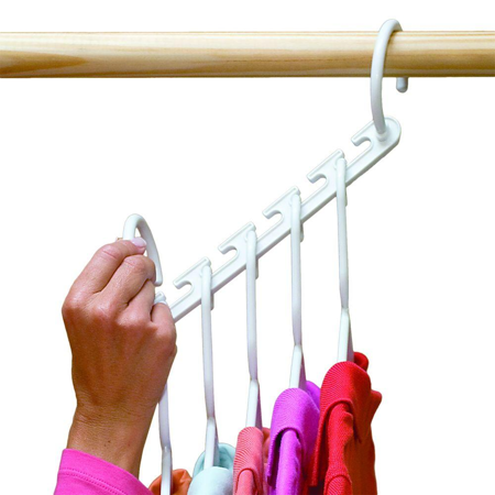 8PCS Wonder Closet Organizer Space Saver Magic Hanger Rack Clothes Hook Home US