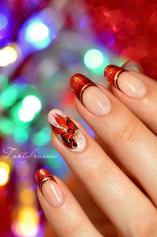 nail art noel fête noeud \u2026