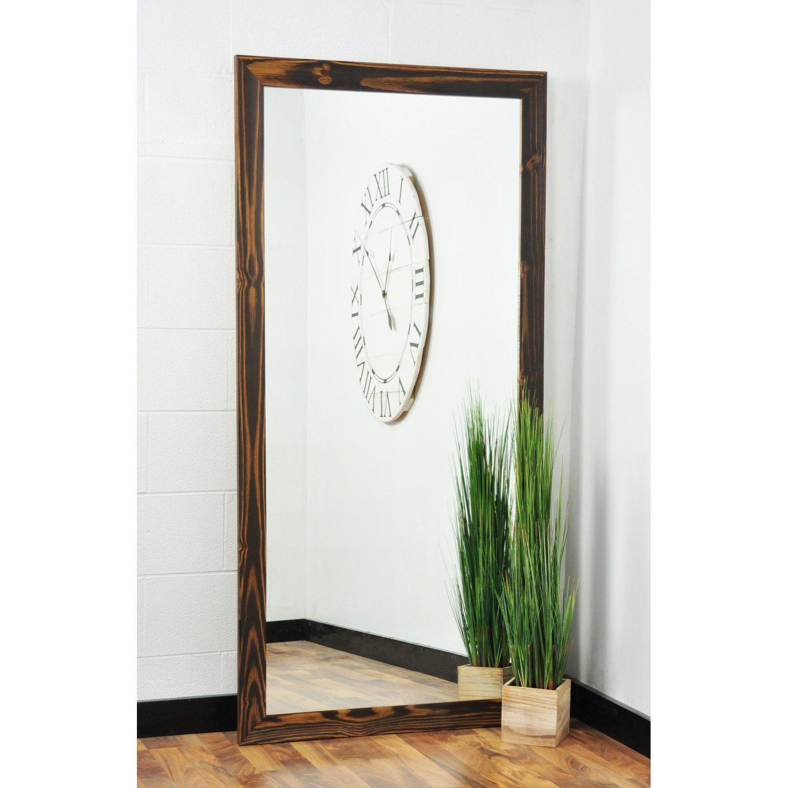 BrandtWorks Wood Toned Floor Mirror Floor mirror, Decor