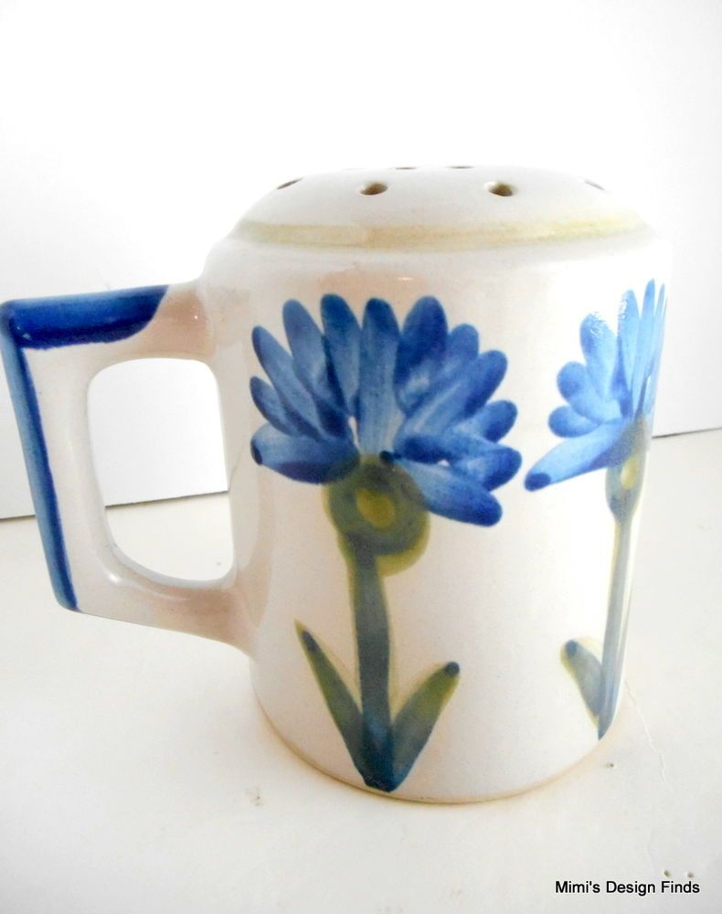 Louisville Stoneware Cheese Shaker Blue Cornflower Bachelor Button w ...