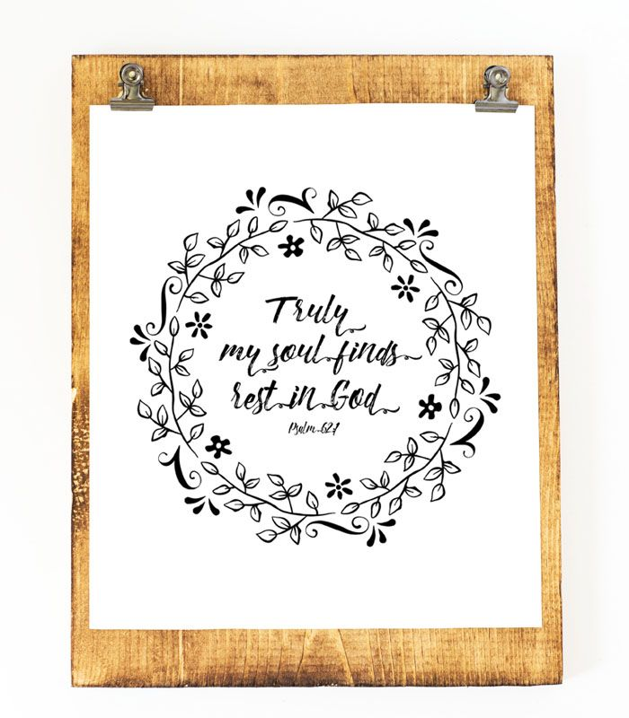Six Beautiful Scripture Printables | For the Home