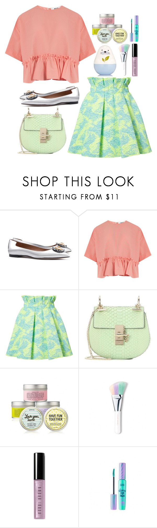 """""""call me baby✨"""" by indahnoviana97 ❤ liked on Polyvore featuring Tory Burch, MSGM, Chloé and Bobbi Brown Cosmetics"""