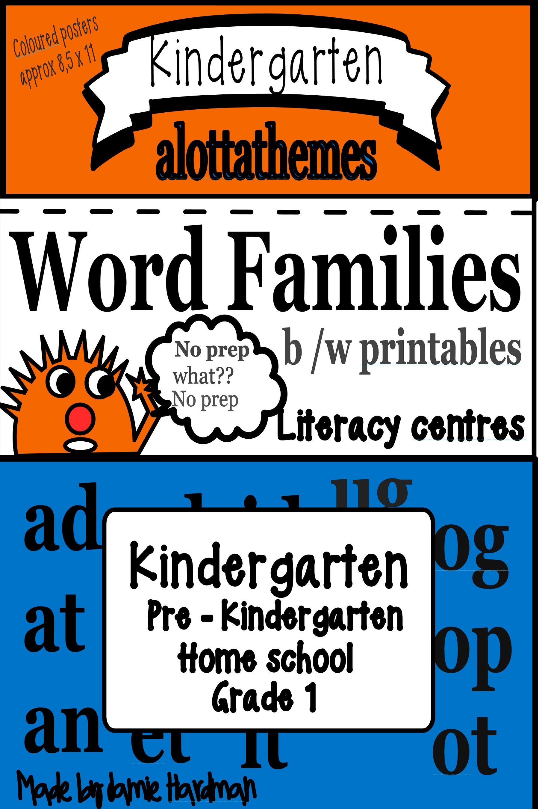 Cvc Word Family Word Activities Low Prep Printables Bonus