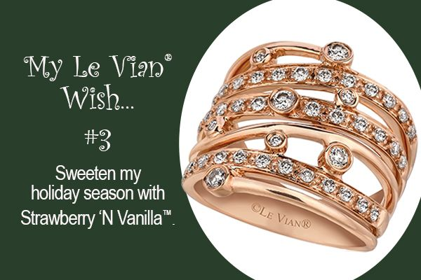 Le Vian® Strawberry 'N Vanilla™ (Strawberry Gold® and Vanilla Diamonds®) ring with a Sinuous Swirl™ wrap around design.  Want to get the look now? Click the Le Vian Wish List Gallery link (below), click on the desired image, and then click here.