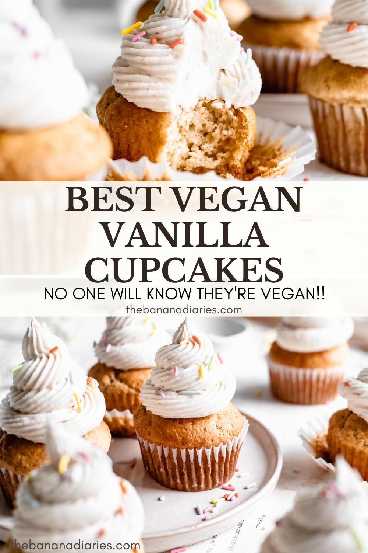 The Best Vegan Vanilla Cupcakes The Banana Diaries Recipe In 2020 Vegan Vanilla Cupcakes Vegan Cupcakes Vegan Frosting