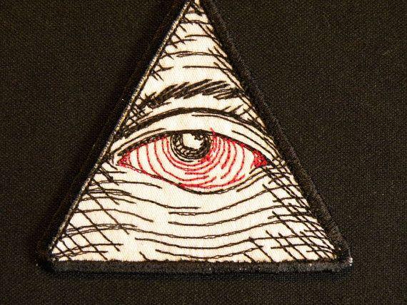 Ojo de la Providencia ver hierro rojo en parche por GerriTullis