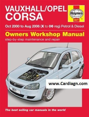 Vauxhall Opel Corsa 2000 2006 Haynes Repair Manual Opel Corsa Opel Vauxhall