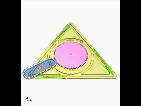 Triangular gear 1 - YouTube