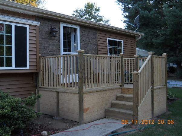 Total Double Wide Manufactured Home Remodel Decking Porch And House Remodeling