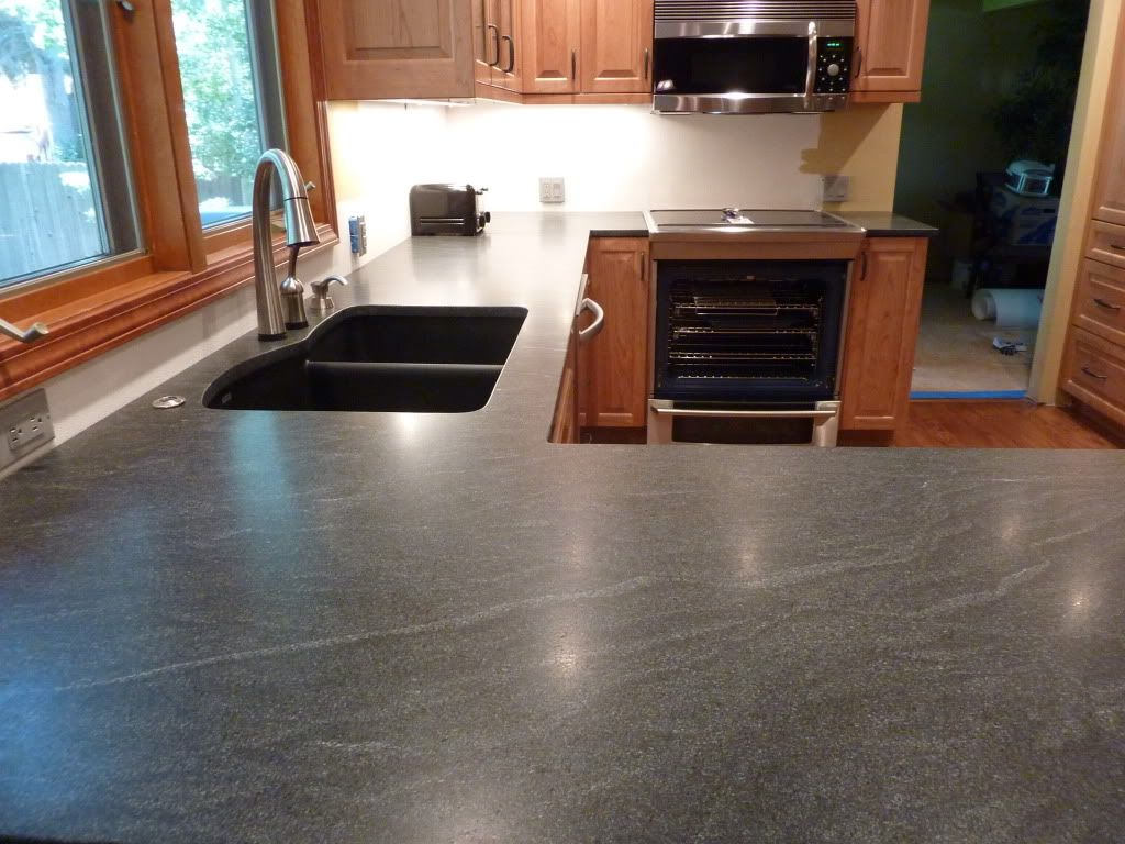 Honed Virginia mist, jet mist granite | Jon | Pinterest