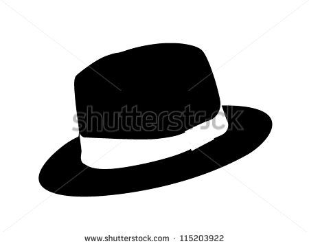 b14abe10368 Image result for woman in fedora clip art | Silhouette | Fedora hat ...