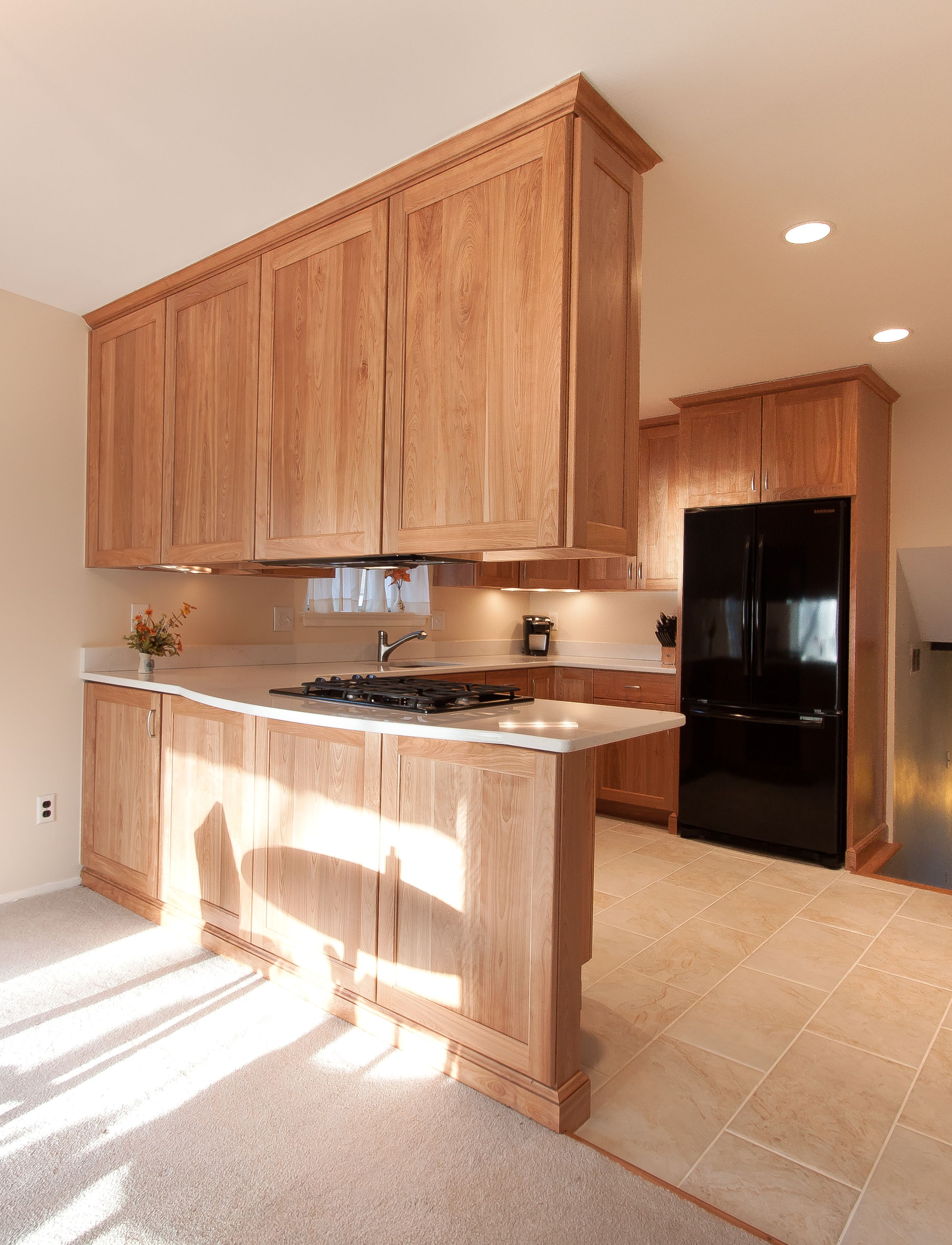 Custom Kitchen Remodel With Natural Red Birch Cabinets Custom Kitchen Remodel Diy Kitchen Remodel New Kitchen Cabinets