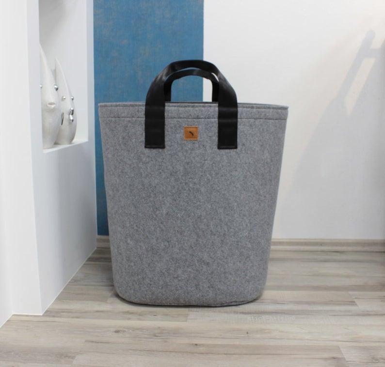 Modern Laundry Hamper Minimalistic Laundry Basket With Etsy
