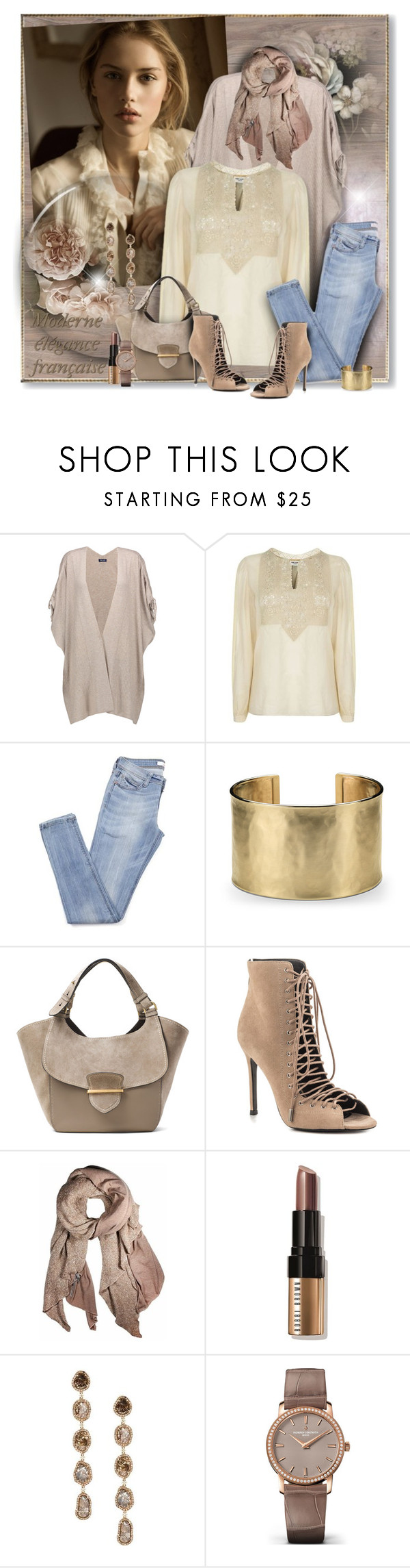 """""""Creme and taupe"""" by perla57 ❤ liked on Polyvore featuring Splendid, Yves Saint Laurent, Blue Nile, Michael Kors, Kendall + Kylie, donni charm, Bobbi Brown Cosmetics, Saqqara and Vacheron Constantin"""