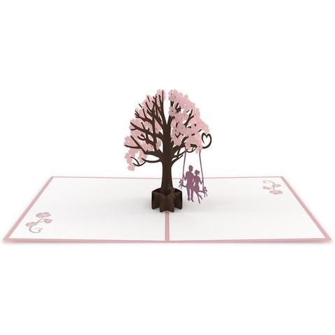 Willow tree dogwood trees kirigami and cards lovers in a dogwood tree pink pop up anniversary card greeting card lovepop m4hsunfo
