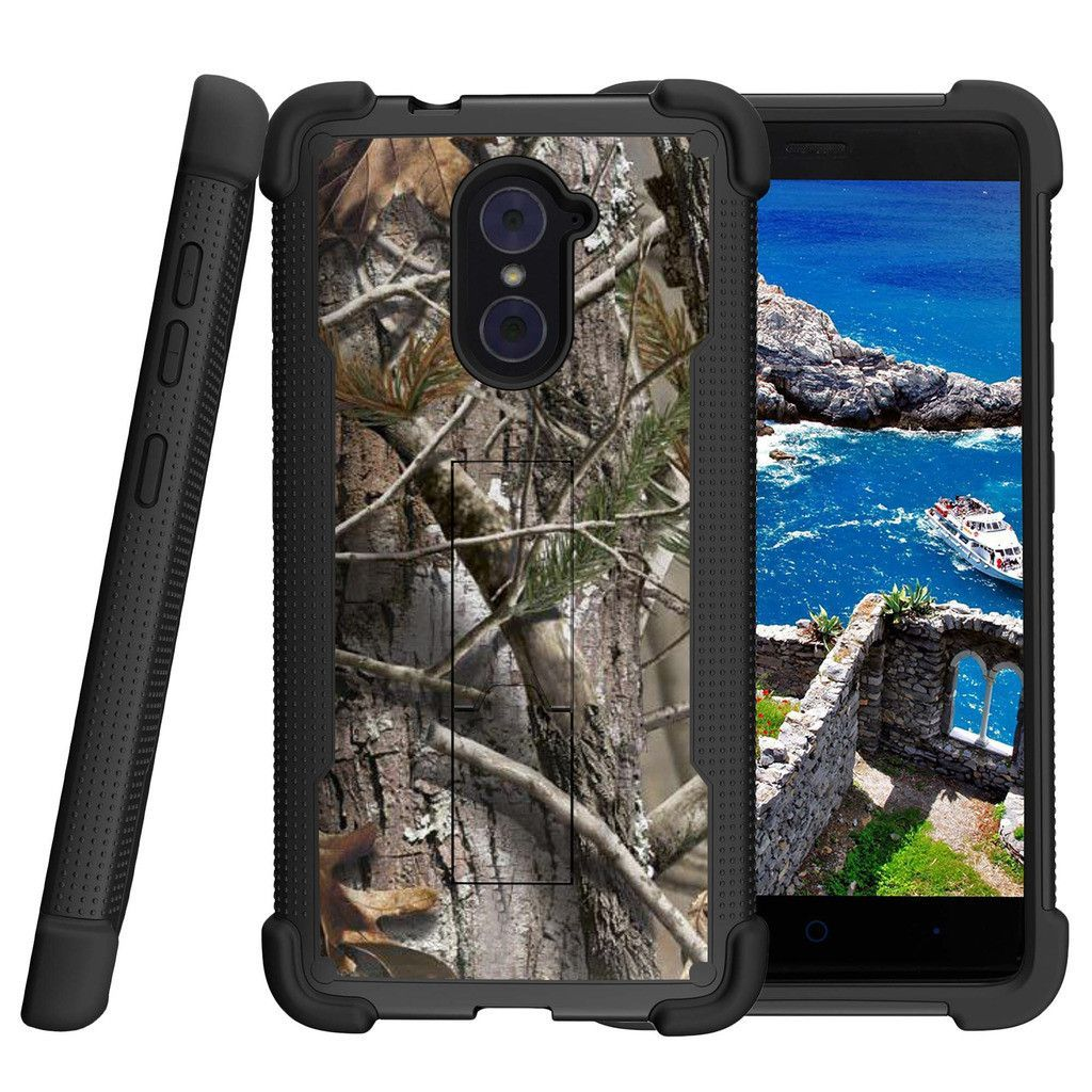 save off 2e25f 30aa6 ZTE Imperial Max Case, Shockwave Armor Heavy Duty Kickstand Defender ...