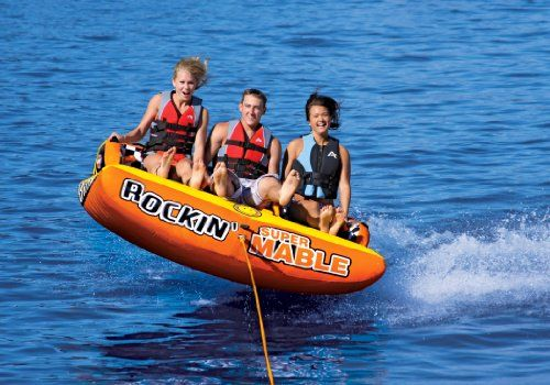 Amazon Com Sportsstuff 53 2263 Rockin Mable 3 Towable Tube 3 Rider Water Fun Towable Tubes Rockin