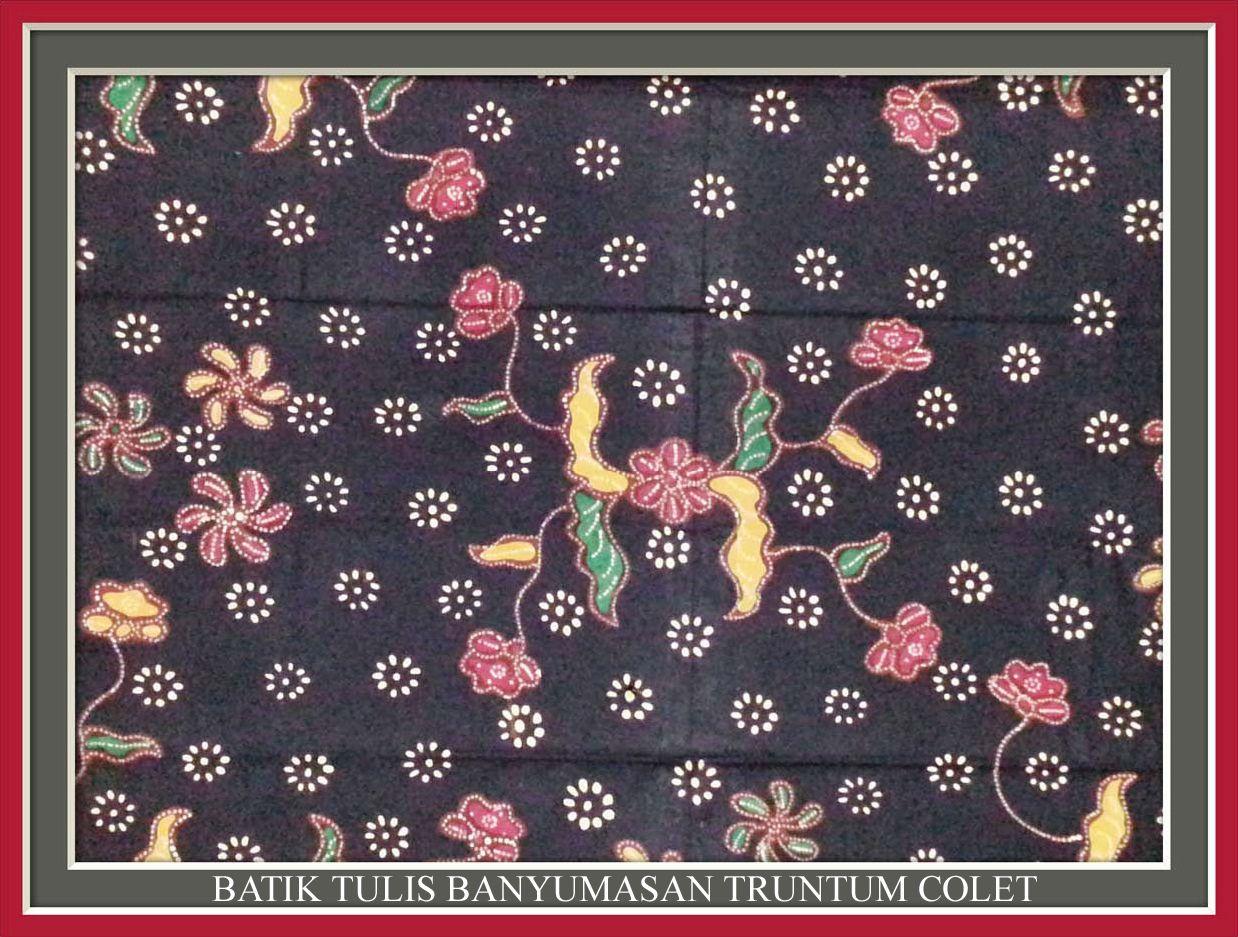 Batik Tulis Banyumasan Truntum Colet | Batik for Customization ...