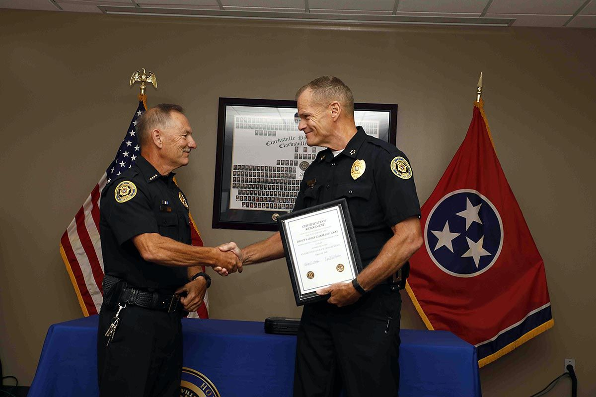 Clarksville Police Department's Deputy Chief Charles Gray