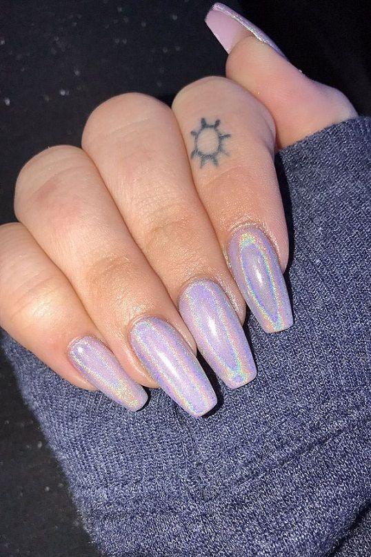 Schöne Coffin Nail Designs, die Sie ausprobieren möchtena Gel nägel #Nagel – Nagel – Coffin nails designs